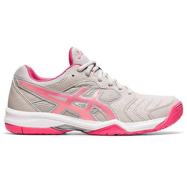 ASICS Gel-Dedicate 6 Women's OUTDOOR Shoe (Oyster Grey/Pink Cameo) (1042A067.021)