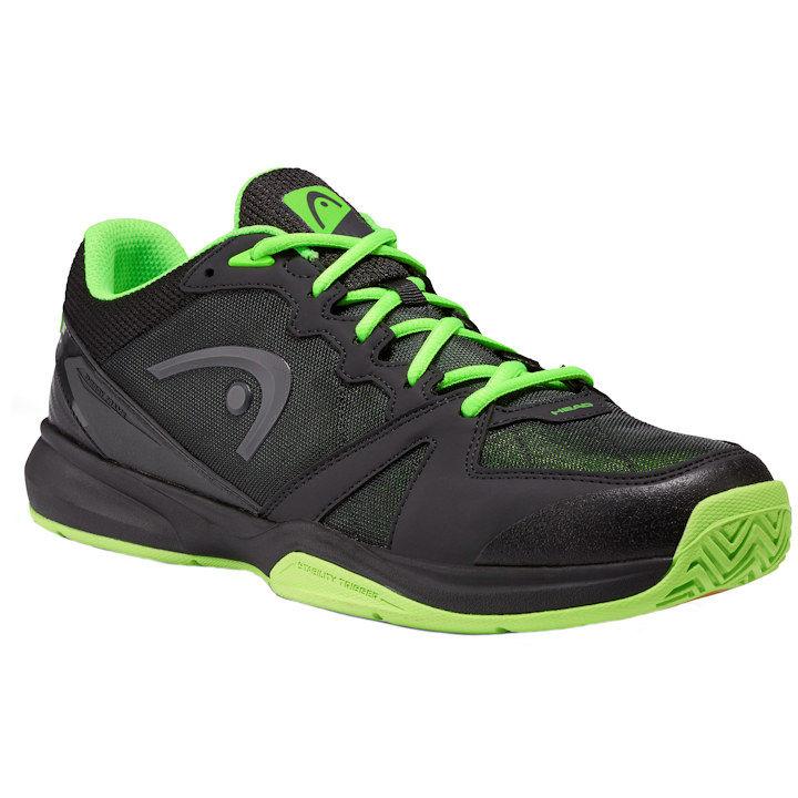 Head Revolt Indoor Low Raven/Neon Green Pickleball Shoes (273709)