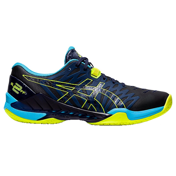 ASICS Blast FF 2 Men's Indoor Shoe (Peacoat/Safety Yellow) (1071A044.400)