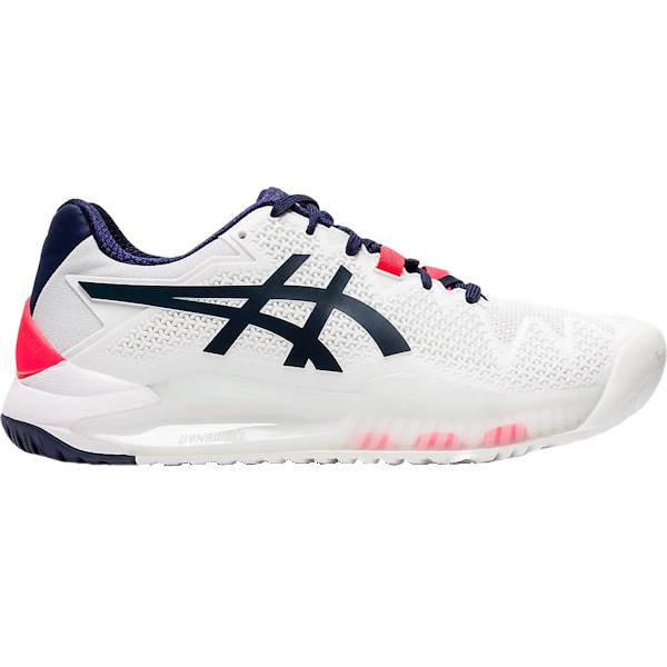 ASICS Gel-Resolution 8 Women's OUTDOOR Shoes (White/Peacoat) (1042A072.103)