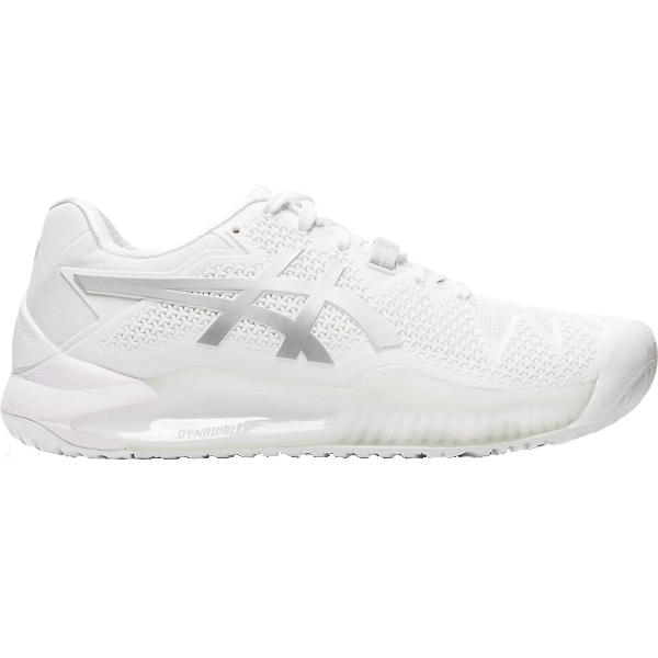 ASICS Gel-Resolution 8 Women's OUTDOOR Shoes (White/Pure Silver) (1042A072.100)