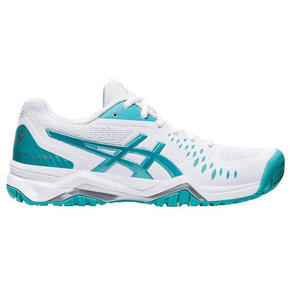 ASICS Gel-Challenger 12 Women's OUTDOOR Shoe (White/Techno Cyan) (1042A041.107)