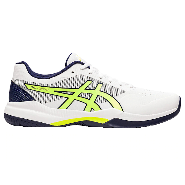 ASICS Gel-Game 7 Men's OUTDOOR Shoes (White/Safety Yellow) (1041A042.106)
