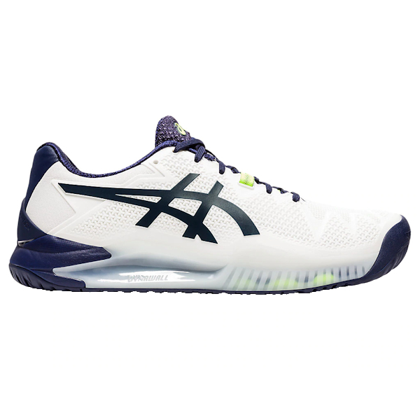 ASICS Gel-Resolution 8 Men's OUTDOOR Shoe (White/Peacoat) (1041A079.102)