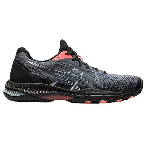 ASICS NetBurner Ballistic FF 2 L.E. Women's INDOOR Shoe (Black/Sunrise Red) (1052A050.010)