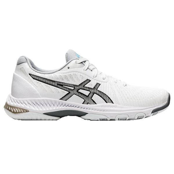 ASICS NetBurner Ballistic FF 2 Women's INDOOR Shoe (White/Black) (1052A034.100)