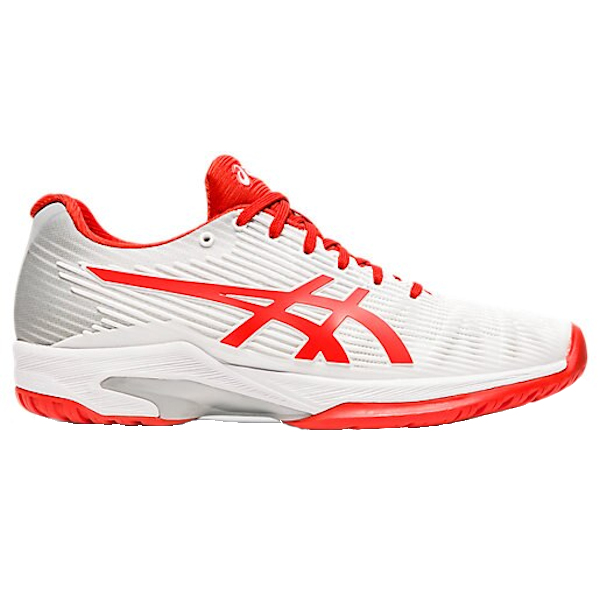 ASICS Solution Speed FF Women's OUTDOOR Shoe (White/Fiery Red) (1042A002.104)