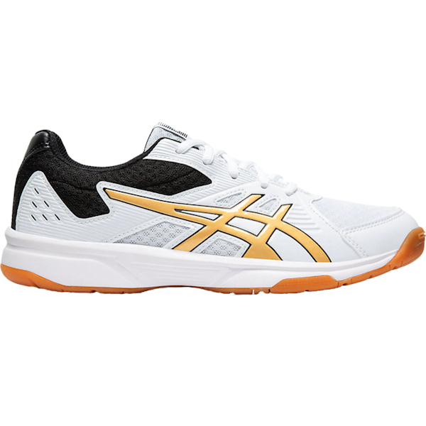 ASICS UpCourt 3 Women's INDOOR Shoe (White/Pure Gold) (1072A012.106)