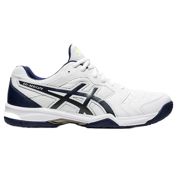 ASICS Gel-Dedicate 6 Men's OUTDOOR Shoe (White/Peacoat) (1041A074.103)