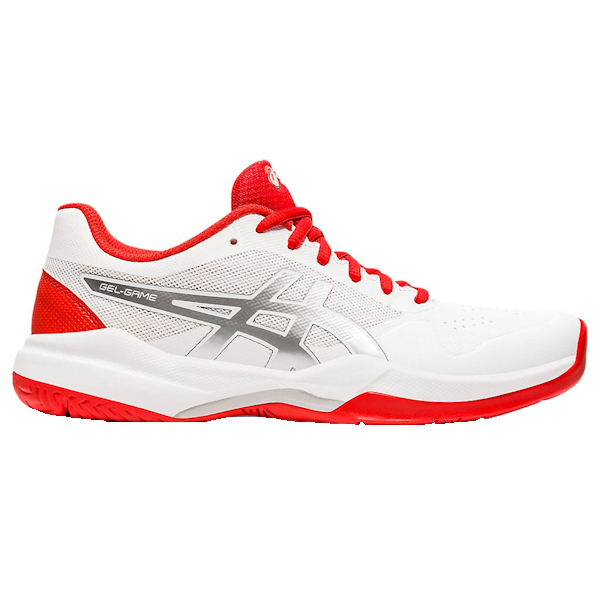 ASICS Gel-Game 7 Women's OUTDOOR Shoe (White/Fiery Red) (1042A036.105)
