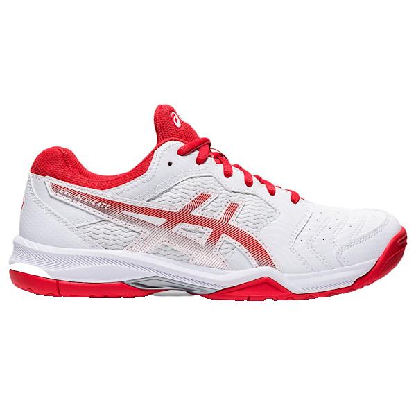 ASICS Gel-Dedicate 6 Women's OUTDOOR Shoe (White/Fiery Red) (1042A067.107)