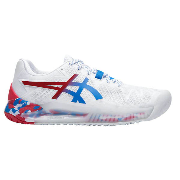 ASICS Gel-Resolution 8 L.E. Women's OUTDOOR Shoes (White/Blue/Red) (1042A095.100)