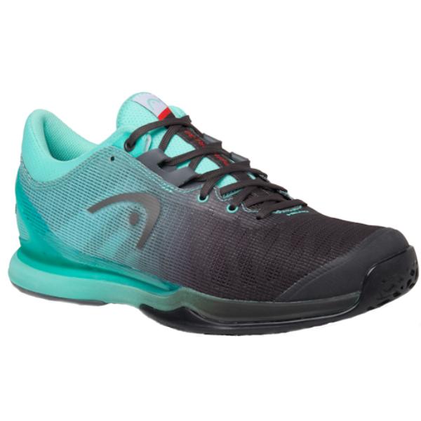 Head Sprint Pro 3.0 Black/Teal Men's Outdoor Shoe (273040)