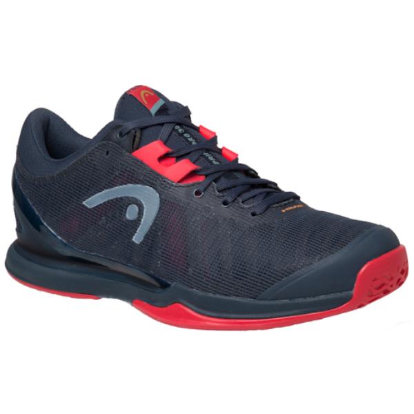 Head Sprint Pro 3.0 Midnight Navy/Neon Red Men's Outdoor Shoe (273000)