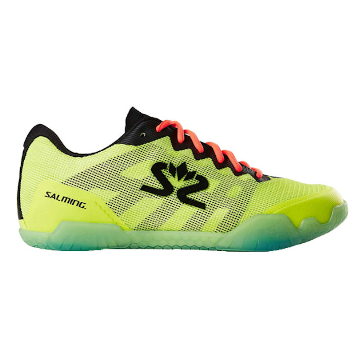 Salming Mens 2019-2020 Hawk INDOOR Shoes (Safety Yellow/Black) (1239085-1901)