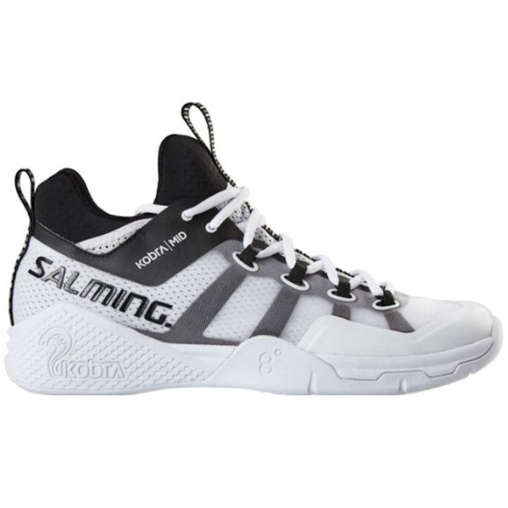 Salming Men's Kobra Mid 2 White/Black Shoe (1239077-0701)