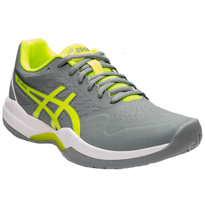 ASICS Gel-Game 7 Women's OUTDOOR Shoes (Stone Grey/Safety Yellow) (1042A036.020)