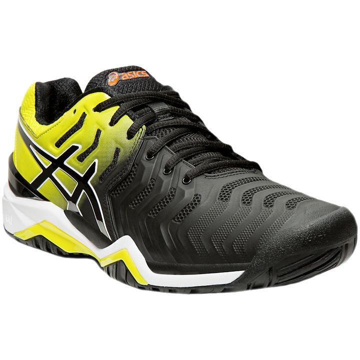 ASICS Gel-Resolution 7 Men's (Black/Sour Yuzu) OUTDOOR Shoes (E701Y.003)