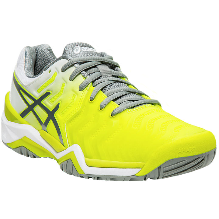 ASICS Gel-Resolution 7 WOMEN'S (Safety Yellow/Stone Grey) OUTDOOR (E751Y.750)