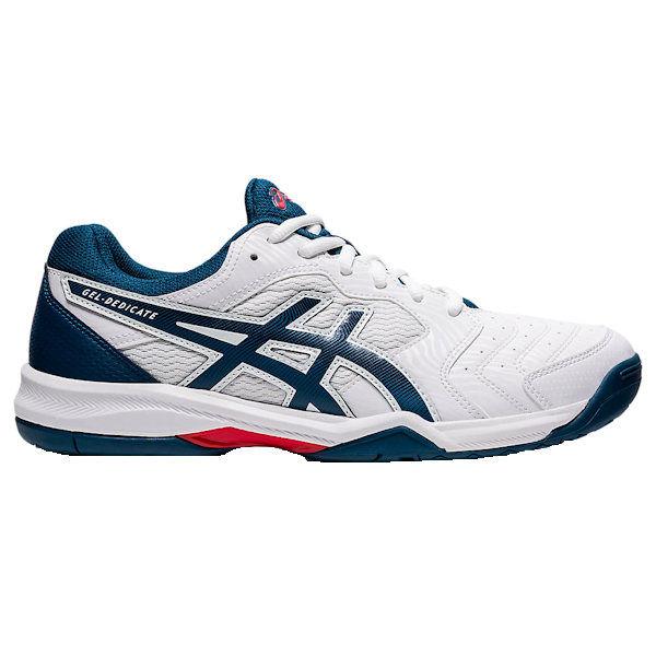 ASICS Gel-Dedicate 6 Men's OUTDOOR Shoes (White/Mako Blue) (1041A074.104)