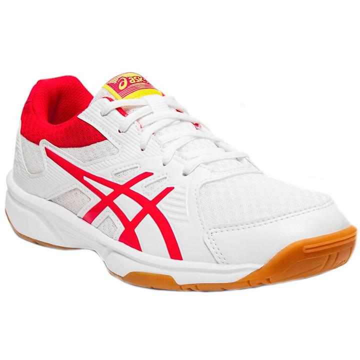 ASICS UpCourt 3 Women's INDOOR Shoe (White/Laser Pink) (1072A012.104)