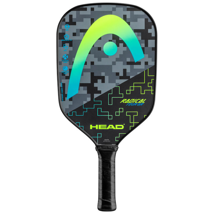 Head Radical Tour GR (Yellow) Pickleball Paddle (226100)