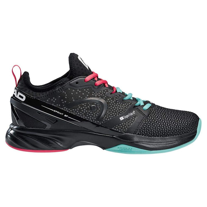 Head Sprint Super Fabric (SF) Black/Teal Men's Outdoor Shoe (273989)