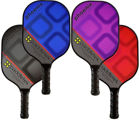 New Paddletek Pickleball Paddle Phoenix Pro Poly Composite Lifetime Warranty