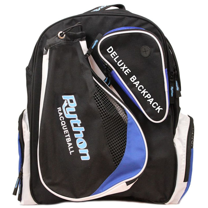 Python Deluxe Black/Blue Backpack Bag