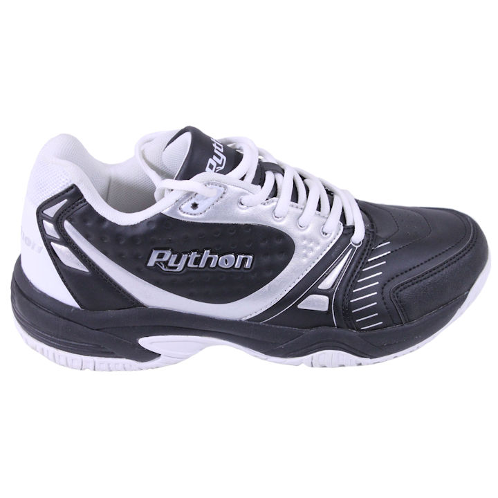 Python Men's Deluxe Indoor Mid BLACK Pickleball Shoes (PY-722BM)