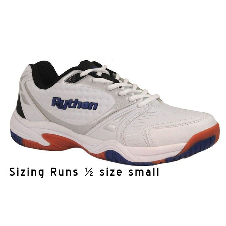 Python Men's Deluxe Indoor Low White Pickleball Shoes (PY-722L)