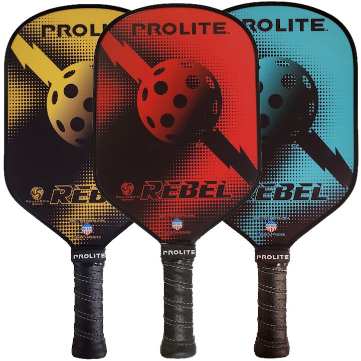 Pro-Lite Rebel PowerSpin Pickleball Paddle
