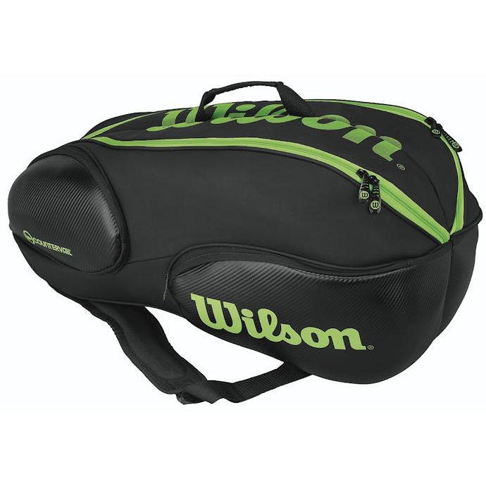 Wilson Blade 9 Pack Bag (Black/Lime)