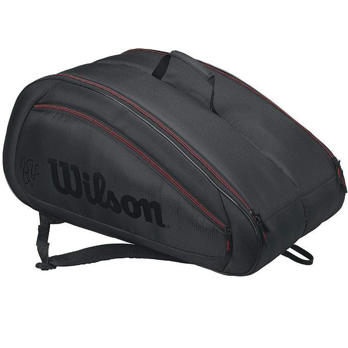 Wilson Federer Team 12-Pack Bag (Red/Black)